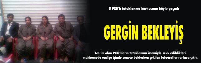 5 PKK'lı tutuklanma korkusunu böyle yaşadı