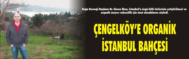 ÇENGELKÖY'E ORGANİK İSTANBUL BAHÇESİ