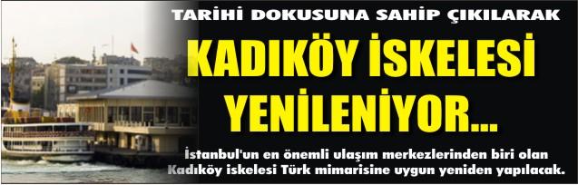 Kadıköy iskelesi yenileniyor