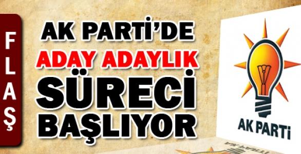 Ak Parti'de aday adaylığı 1 Ekimde başlıyor