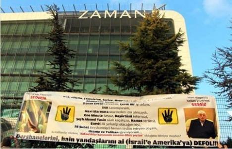 AK Partililer gazete önünde eylem yaptı