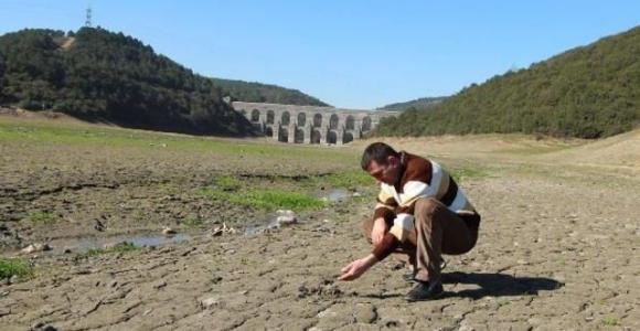 Alibeyköy Barajı'nın büyük bir bölümü kurudu