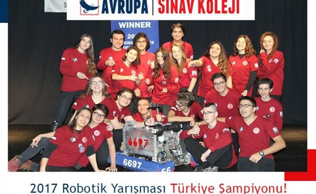 Avrupa Sınav Koleji Robotik Takımı Türkiye Şampiyonluğu