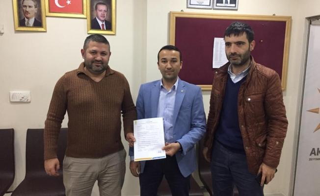 Alim Özdemir Meclis üyesi aday adayı oldu