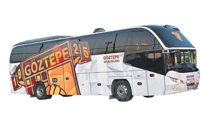 Göztepe İstanbul'a otobüsle gidecek!