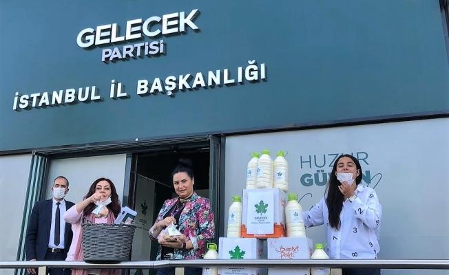 Gelecek Partisi İstanbul Kadın Kolları Halka Organik Süt Ve Yumurta Dağıttı