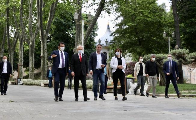 Kılıçdaroğlu, Kaftancıoğlu ve İmamoğlu'ndan Tarihi Yarımada turu