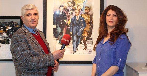 Atatürk Portresi ile birinci oldu