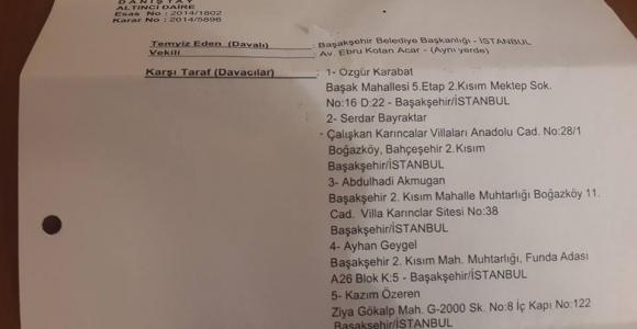 Başakşehir Belediyesi bir dava daha kaybetti