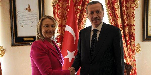 Başbakan Erdoğan'ın ABD Dışişleri Bakanı Clinton'ı kabulü