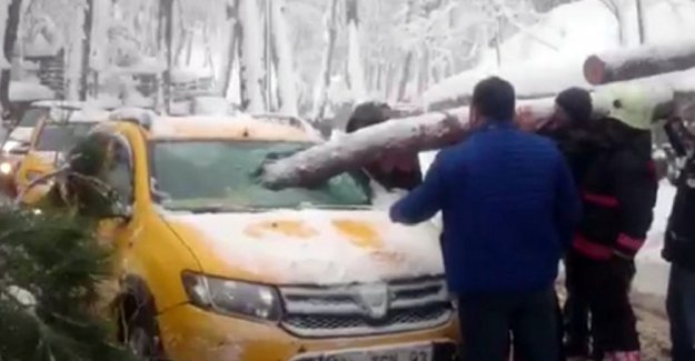 Beykoz'da taksici ölümden döndü