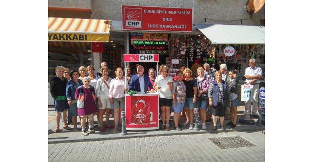 CHP' nin Şile Kadın Kollarından Şortlu Eylem