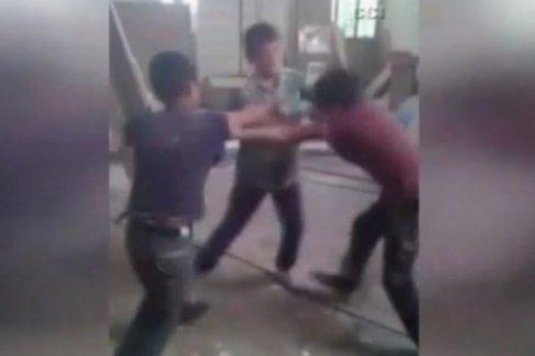 Çocukları dövüştürüp kahkahalarla güldüler