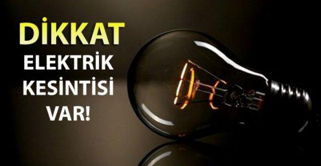 Dikkat! İstanbul'da bu gün Elektrik kesintisi var.