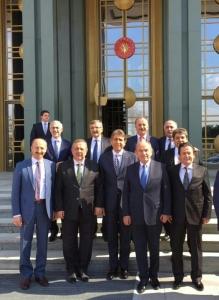 Erdoğan Belediye başkanlarını Sarayda ağırladı
