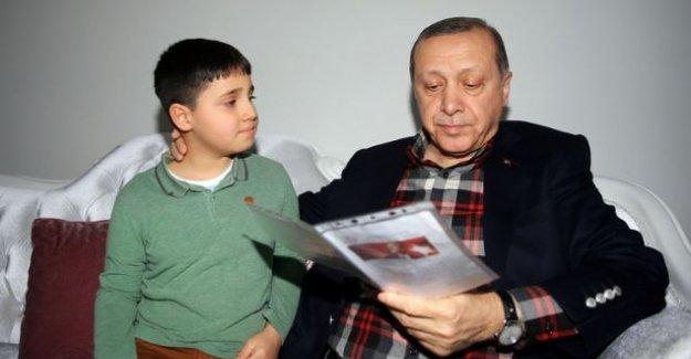 Erdoğan'dan 15 Temmuz gazisinin ailesini ziyaret etti