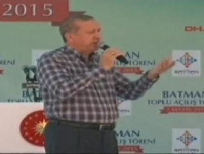 Erdoğan'dan slogan atan gruba nankörlük yapmayın tepkisi
