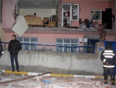 Erzurum'da mahalleyi sokağa döken patlama