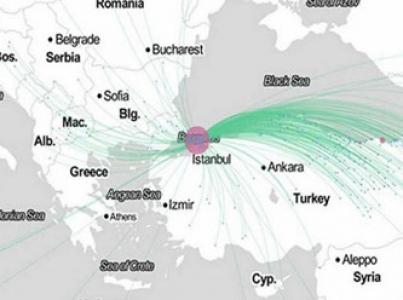 Facebook'tan İstanbul'la ilgili ilginç harita