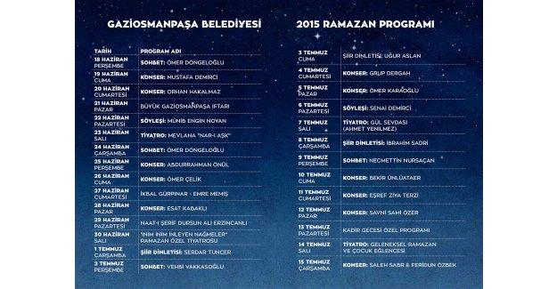 Gaziosmanpaşa'da Kadir Gecesi Özel Programı