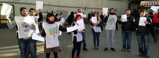 HDP'den protesto için 'boş kağıt'la seçim propagandası