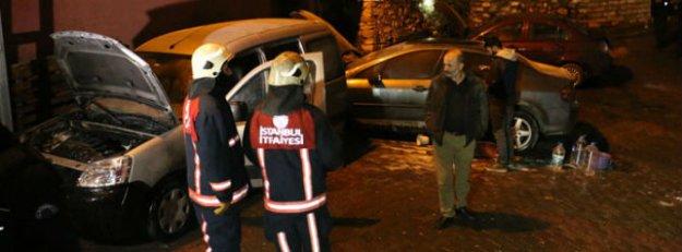 İstanbul-Kağıthane'de 5 araç kundaklandı