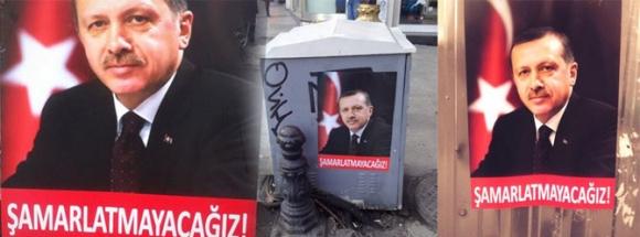 İstanbul'da ilginç posterler!