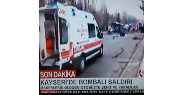 Kayseri'deki hain saldırı ardından flaş açıklama: 13 şehit, 55 yaralı