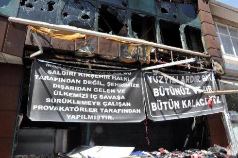 Kırşehir'de İş Yeri Yakılan Esnaf: 'Bütünüz ve Bir Bütün Kalacağız'