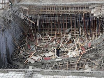 Mamak'ta inşaatta göçük! 6 yaralı