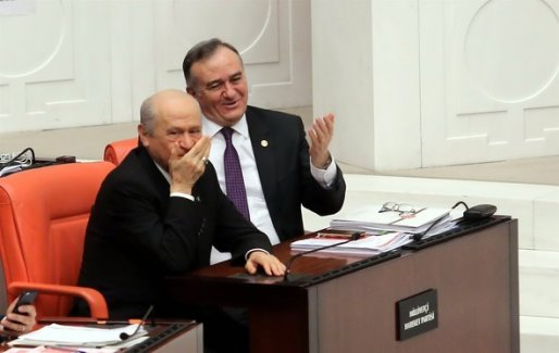 Meclis'teki 'ısırma' tartışmasına Bahçeli'nin tepkisi