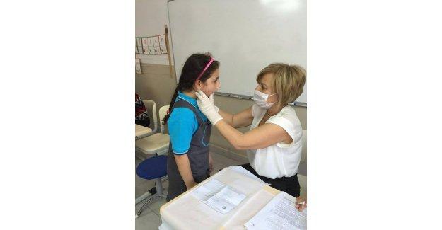 Öğrencilere diş taraması yapıldı