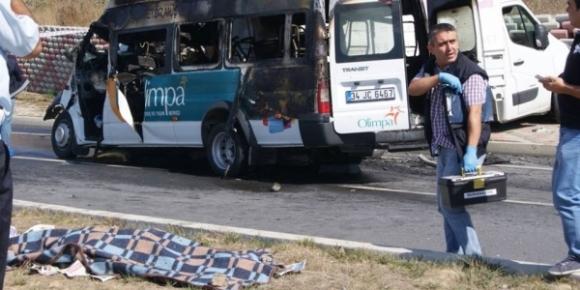 Olimpa AVM servisi kaza yaptı 1 ölü