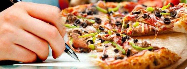 Pizza siparişi için teslimat fişi yerine senet imzalattılar!