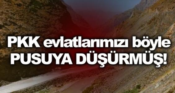 PKK evlatlarımızı böyle pusuya düşürdü