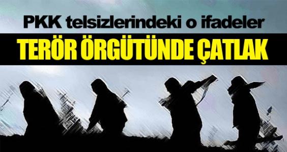 PKK'daki çatlak telsiz konuşmalarında