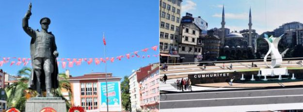 Rize'de 'Atatürk Anıtı kaldırılıyor' tartışması