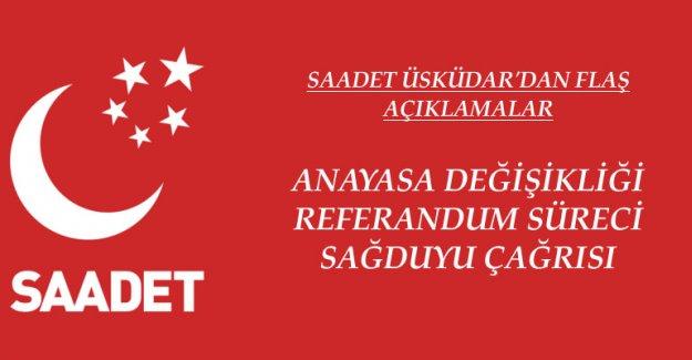 Saadet Üsküdar'dan Anayasa Değişikliği, Referandum ve Sağduyu Açıklaması