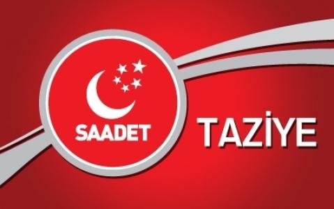 SP İlçe Başkanı Güşen taziye mesajı yayınladı