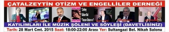 """Sultangazi, Engelliler """"Müzik-Söyleşi""""  Konserinde Buluşuyor!.."""