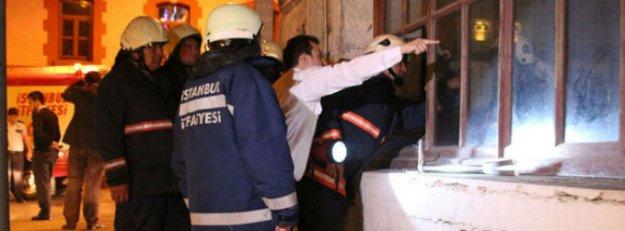 Taksim Tünel'de yangın çıktı