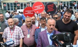 Başkan Çağırıcı, FETÖ duruşmasında mağdur ailelere destek verdi