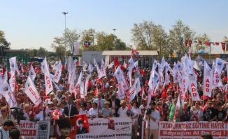 Başkan Altınok Öz ''Atatürk'süz Eğitime Hayır'' mitingine katıldı
