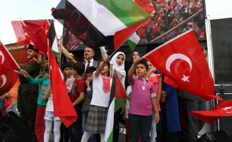 Esenyurt'ta Kudüs'e destek mitingi