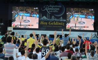 Eurolig Final-Four Bağcılar'da dev ekranda izlendi