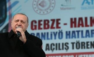Erdoğan'dan tarihi açılışta önemli mesajlar