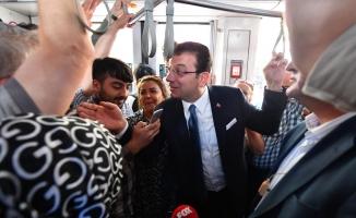 İmamoğlu Önce İstanbul Valisi'ni ziyaret etti sonra tramvaya binip İBB 'ye gitti...