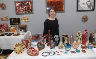 Ferda Şener El Sanatları Sergisi, Hasan Ali Yücel Kültür Merkezi'nde Açıldı
