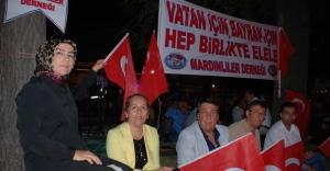 """Mardinliler """"Demokrasi"""" Nöbetinde"""