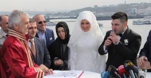 Metroda İlk Nikahı Başkan Kılıç Kıydı